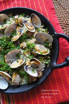 南スペイン☆地中海の味☆ヴェルデ・パエーリャ あさりの緑のパイエリア|レシピブログ