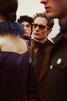 Backstage at Prada AW14 shot by Lea Colombo