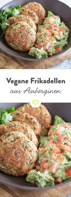 Vegan eggplant meatballs with kale pesto - Meatballs without animal products? That& where tofu comes in. Are you kidding me? Are you seri - Vegetarian Lifestyle, Vegan Vegetarian, Vegetarian Recipes, Healthy Recipes, Burger Recipes, Quick Recipes, Eggplant Meatballs, Vegan Meatballs, Meatless Meatballs