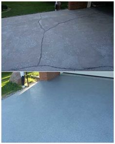 Nearly all driveways will develop cracks at some time or other. Instead of having to break up and pour a brand new slab, why not just repair the cracks with a little Sani-Tred.
