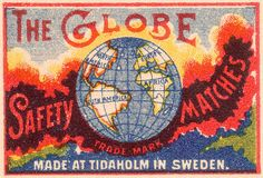 The Globe safety matches (Sweden)