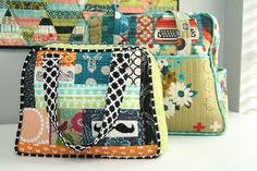 A Smaller Weekender by Julie Pickles Glutton For Punishment, Weekender Tote, Pin Cushions, Pillows, Fabric Bags, Cute Bags, Purses And Bags, Diaper Bag, Pouch