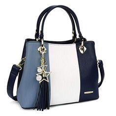 Pomelo Best Handbags for Women with Shoulder Strap in Pretty Colors Combination Vegan Handbags, Cheap Handbags, Fashion Handbags, Fashion Bags, Womens Designer Bags, Gris Rose, Nylon Bag, Womens Purses, Large Bags