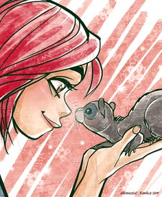 Will and her hamster which I don't remeber by ipercalisse.deviantart.com on @DeviantArt