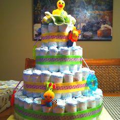 Diaper Cake I made for a friend!