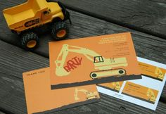 Great ideas here for a construction themed party. Love this invite. One of my future boys will have a construction party!
