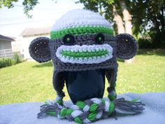 Sock Monkey Hat- crochet pattern. This one actually looks really cute! some free patterns look just goofy