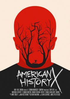 Minimal movie poster for American History X by Артём Петров, via Behance Movie Posters Minimalist, Movie Posters Design, Artist, Poster Design