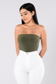 Tubular Bodysuit - Olive