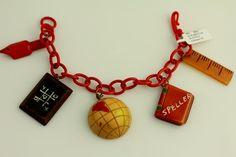 Martha Sleeper Bakelite School Days Charm Bracelet