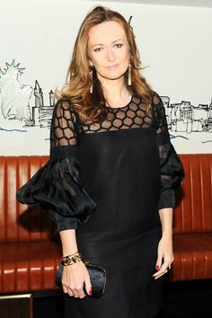 Porter Magazine's Lucy Yeomans looking glamorous as always