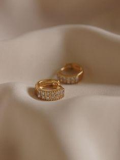 Sparkly Gold Hoop Earrings- Thin Gold Hoops/ Large Gold Hoop Earrings/ Skinny Hoop Earrings/ In Hoops/ Big Hoop Earrings/ Delicate Hoops - Fine Jewelry Ideas Gold Earrings Designs, Gold Hoop Earrings, Gold Hoops, Stud Earrings, Gold Plated Earrings, Gold Necklace, Amethyst Earrings, Crystal Earrings, Crystal Jewelry