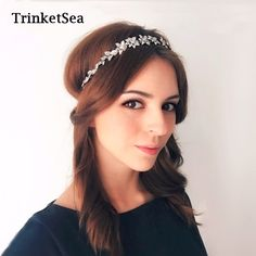TrinketSea Luxury Vintage Flower Elastic Hairband for Women Girls Headband Fashion Hairwear Hair Accessories Wedding Jewelry //Price: $13.24 & FREE Shipping //     #hairextension #style #beauty #woman #love