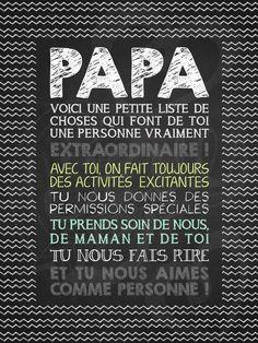 Affiche personnalisée pour la fête des pères Papa extraordinaire!   15,00$ #lacraieco #chalkboard #fetedesperes