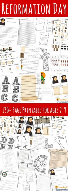 Make Reformation Day fun and educational for kids with these great ideas for all ages and a 130+ page printable pack for ages 2-9! Sunday School Activities, Sunday School Lessons, Sunday School Crafts, Lessons For Kids, Bible Lessons, Activities For Kids, Bible Activities, Teaching Activities, Reformation Sunday
