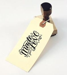 Made With Love Hand Lettered Stamp