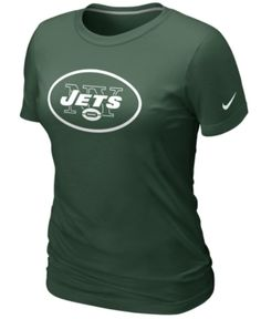 Nike Women's NFL T-Shirt, New York Jets Logo Tee Men TREND SHOPS & GUIDES - Sports Fan Shop (Clearance) Team player. Show support for your favorite football team in this New York Jets NFL