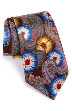Ermenegildo Zegna 'Quindici' Print Silk Tie available at #Nordstrom