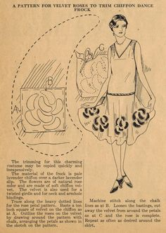 The Midvale Cottage Post: Home Sewing Tips from the 1920s. I love this dress as described in the article.
