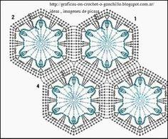 PATRONES - CROCHET - GANCHILLO - GRAFICOS: GRANNY , CUADRITOS PARA TEJER MANTAS , COLCHITAS