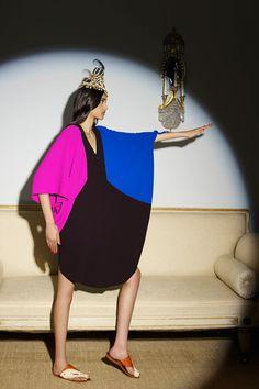 Duro-Olowu-Fall-2014-Collection-London-Fashion-Week-Colorblock-Sheer-Dress-Fashion