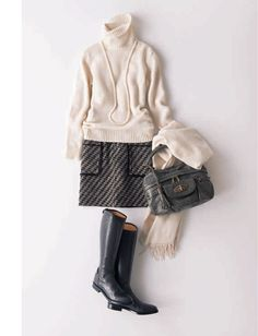 Pin on ファッションスタイル Autumn Fashion Work, Work Fashion, Skirt Fashion, Daily Fashion, Fashion Outfits, Womens Fashion, Wardrobe Sets, Fashion Capsule, Winter Outfits For Work