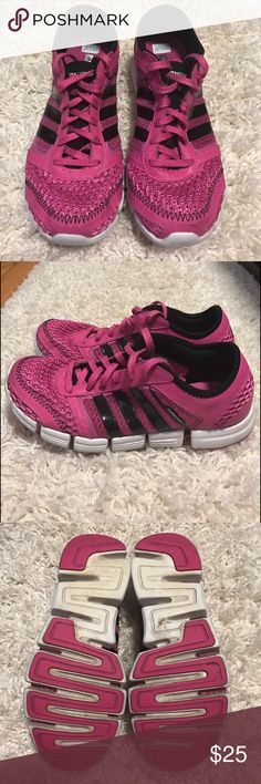 Sneakers Pink and black sneakers. Light wear on bottoms but in great condition. Adidas Shoes Athletic Shoes