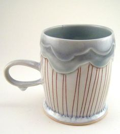 Rain Cloud Porcelain Mug | Hold a tea (or hot cocoa) party of one with this delicate porc... | Coffee & Tea Cups