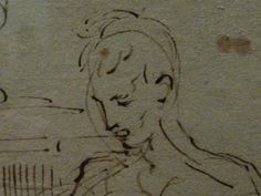 "PARMIGIANINO - Une Femme et Deux Hommes assis à une Table, entourés d'autres Figures (Louvre INV6499) - Detail -b  -  TAGS : drawing dessin disegno personnage figure figures people art painter peintre details détail détails  croquis étude study sketch sketches Louvre France Italy Italy ""Le Parmesan"" Parmesan ""Francesco Mazzola"" Francesco Mazzola Parme Parma  femme woman beauty beauté élégant elegant ""elegant woman"" robe dress dresses grace graceful grâce homme man men women quotidien daily…"