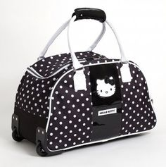 Polka Dot Hello Kitty Travel Bag.