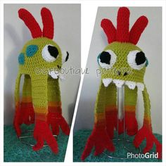 Finished Product Wow murloc crochet hat finished product Toddler size world of warcraft