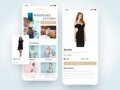 Q Avenue Ecommerce App designed by ✨ Kamil Janus ✨ for EL Passion. Connect with them on Dribbble; the global community for designers and creative professionals. App Design Inspiration, Ecommerce App, Tablet Ui, Web Design, Ios Ui, Mobile Ui Design, Winter Sale, Interactive Design, User Interface