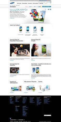 Samsung - Page longue présentation smartphone #webdesign #inspiration