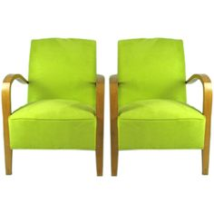 French Moderne Chartreuse Ultra Suede Side Chairs  #1stDibs