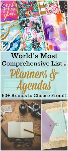 The world's first comprehensive planner brand list! With the help of my friends I've compiled an extensive list of agenda and planner brands-with links!