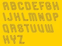 "A Mind-Bending Font Inspired by a Famous Optical Illusion | ""At first I had no intention to make it as a font, but it became quite popular over the internet, so I decided to take up the challenge,"" says Hegedűs.  Martzi Hegedűs  