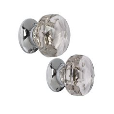 Glass Door knobs   ... > Bath & Beauty > Frances Pair Of Clear Glass Interior Door Knobs