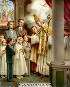 Fourth Sacrament is Confirmation. The gift of the Holy Spirit