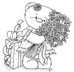 Oursonne avec fleures