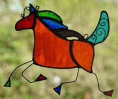Baroque Spanish Horse Vibrant Stained Glass Art Suncatcher for The Horse Lovers | eBay