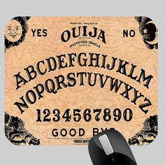 cool OUIJA BOARD PHOTO MOUSE PAD Ouija, Custom Mouse Pads, Cool Stuff, Board, Sign