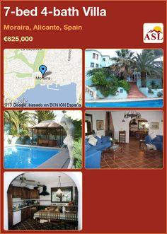7-bed 4-bath Villa in Moraira, Alicante, Spain ►€625,000 #PropertyForSaleInSpain
