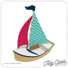 Arquivos em formato SVG, DXF e EPS para ser cortado em plotters.    Tamanho: 15cm x 20cm x 8cm    <strong>Ao adquirir o arquivo, você está de acordo com os Termos de Uso.</strong> Silhouette Files, Sailboat, Paper Crafts, Graphic Design, Filing Cabinets, Candles, Boats, Sailing Boat, Tissue Paper Crafts