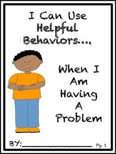 Social Story: I Can Use Helpful Behaviors, When Having A Problem