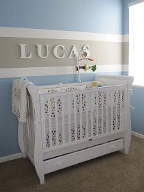 Nursery Notations: The Solo Stripe love the stripe (not sure if practical for our space though...)