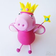 [ Cake Model/ Topper ] – Princess Peppa Pig and Family Cake Models/ Toppers. Tortas Peppa Pig, Cumple Peppa Pig, Peppa Pig Birthday Cake, Peppa Pig Family, Cake Models, Family Cake, Cake Templates, Un Cake, Pig Party