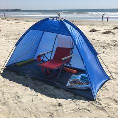 Apontus Portable Beach Sun Shelter / Cabana (Blue) - Walmart.com