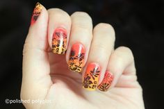 "Nail art Sunset floral nail design [26GNAI] Hello my lovelies! how are you doing? Enjoying your summer? Today the 26 Great Nail artIdeas challenge is about ""Going on holidays"". So I thought to do a floral nail art with a sunset vibe. I hope you like it :) For this manicure I knew I wanted to do a sunset gradient. Summer is all about sunset skies for me because is the only season in the year I get to truly appreciate this moment of the day and I find it so romantic and beautiful! I started my…"
