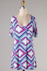 Aztec Long Tunic from In Bloom Boutique Perfect for Spring!