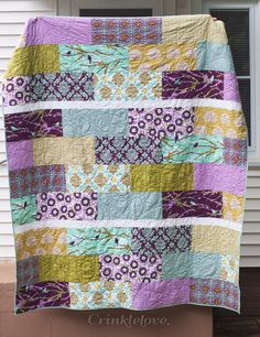 Aviary fabric by Joel Dewberry, quilt made by Sarah Wilson.